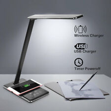 QI CARGADOR INALAMBRICO USB LED LAMPARA LUZ MESA PLEGABLE OFICINA POR IPHONE 8 X