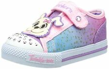 SKECHERS TWINKLE TOES SHUFFLES CRITTER LIGHT UP TRAINER FLASHING SHOE VELCRO