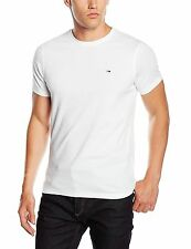 Hilfiger Denim T Shirt - Hilfiger Original Crew Neck Flag Logo T Shirt White