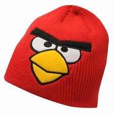 ANGRY BIRDS: RED BEANIE HAT,3-5,6-8YR APPROX,NEW WITH TAGS