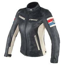 DAINESE LOLA D1 Nero / ice / Rosso / BLU MOTO Donna Giacca in pelle