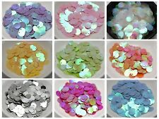 2000 Flat Round loose sequins Paillettes Top Hole 10mm sewing Wedding