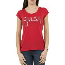 tee shirt top SALSA JEANS 119616 germany rouge Ref: ind