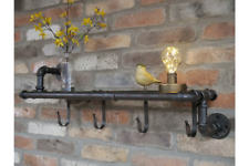 Wall Wire Metal Cabinet Shelving Industrial Style Utility Shelf Hanging Hooks