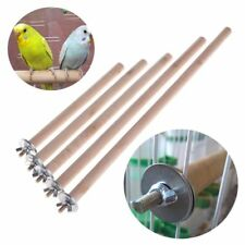 New Parrot Raw Pet Wood Hanging Stand Rack Toy Bird Cage Branch Perches Hot Sale