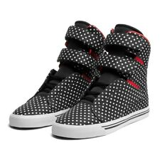 Sneakers Femme Shoes SUPRA WMNS SOCIETY BLACK POLKA / RED - WHITE