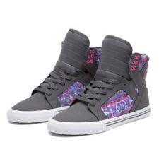 Sneakers Femme Shoes SUPRA WMNS SKYTOP CHARCOAL / PINK - WHITE
