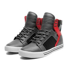 Sneakers Homme Shoes SUPRA SKYTOP GREY / RED / BLACK - WHITE