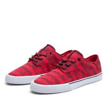 Baskets Homme Shoes SUPRA PISTOL BURGUNDY / RED - WHITE