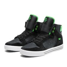 Sneakers Homme SUPRA VAIDER Black lime white Black suede Black crackled leather