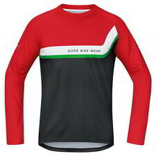 Maillot Gore Bike Wear Power Trail Manga Larga Rojo-Negro
