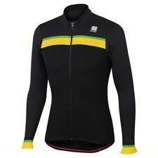 Maillot Sportful Pista Thermal Negro-Amarillo