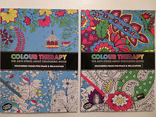 Colour Therapy The Anti-Stress Adult Colouring Book (Choice of 2)
