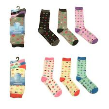 3 Pairs Ladies Small Dogs Geometric Design Soft Fresh Feel Ankle Socks UK 4-7