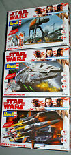 STAR WARS Revell Build & Play model kit millenium falcon poe's x wing fighter