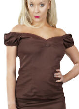 Top betty en coton marron, burleska Burleska