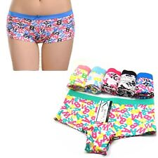2 Pairs Ladies Letter Writing Underwear Knickers Briefs Panties Boxer Boy shorts