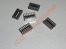 IC Fassung Sockel 14-Pin DIL DIP14 IC Socket PCB Mount Connector 2, 5, 10Stck.