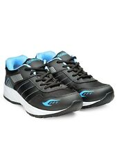 Density Mens Synthetic Leather Eva Sole Black& s.Green Sport Shoes