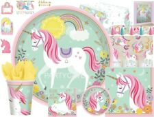 MAGICAL UNICORN Girls Birthday Party Plates Cups Napkins Tablecover Decoration
