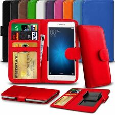 """Clamp Style Premium Leather Wallet Case Cover For BQ Mobile BQS-5025 HighWay (5"""""""