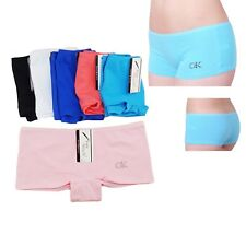 2 Pairs Ladies Plain Underwear Knickers Briefs Panties Quality Boxer Boy shorts