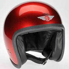 Davida SPEEDSTER rouge casque moto jet ouvert Cosmic CANDY toutes tailles