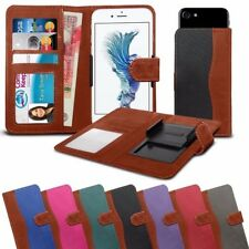 """High Quality Fabric Material Clamp Wallet Phone Case for Alcatel Pixi 4 (4) (4"""")"""