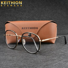 Hot Womens Men Large Oversized Metal Frame Clear Lens Round Circle Eye Glasses