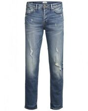 JACK & JONES JEANS UOMO JJITIM JJORIGINAL CR 004 slim fit - Blu - DENIM BLU