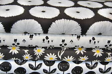 Art Gallery Black & White Flowers Lagom & Wonderful Things 100% Cotton FQ