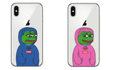 PEPE THE FROG Internet Meme Soft Clear Case Cover iPhone 5/5s/SE 6/6s 7 8 Plus X