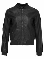 Giacca di pelle donna onladele Ecopelle Giacca Nero Bomber Giacca College