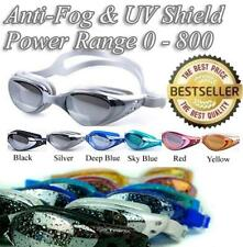 Non-fogging Waterproof Anti-Fog Swimming Glasses Swim Goggle UV Protection UK