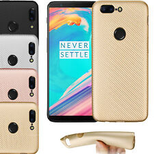 Luxury Shockproof Soft Carbon fiber Matte Thin TPU case cover For OnePlus 5T UK