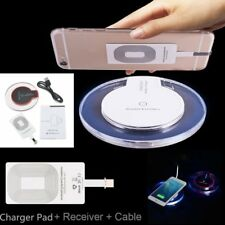 Qi Wireless Charger Charging Pad Mat Dock + Receiver For Samsung Andriod /iPhonl