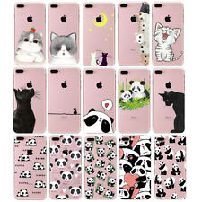Etui Housse Coque chat panda Silicone TPU case cover pour Iphone 6 6S 7 8 PLUS 5