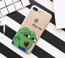 PEPE The Frog Internet Meme KISS ME Suave Funda Transparente - IPHONE 6/6s 7 8