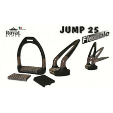 "Royal Rider Jump 25 Flexi Sport Stirrups 4.75"" BLACK *OFFER PRICE LESS 15%*"