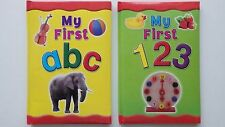 My First abc Book or My First 123 Book (Choice of 2)