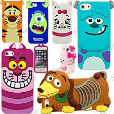 3D Cartone Animato GOMMA Silicone Posteriore Custodia Cover per Iphone Apple 8 7