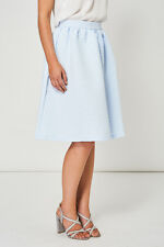 Casual Formal Blue Pleated Skirt Women's Ladies Spring Summer Wedding Party UK