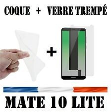 Coque Housse Silicone  HUAWEI MATE 10 LITE + Film Protection Verre Trempé