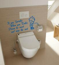 IF YOU SPRINKLE TINKLE Funny Vinyl Toilet Lid Wall Stickers Decals Decoration D2