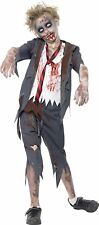 Smiffys Children's Zombie School Boy Costume, Trousers, Jacket, Mock Shirt and T