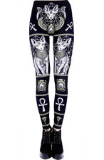 Leggings negro sphynx cat Restyle, gótico, witch, magia, esoteriqu Restyle