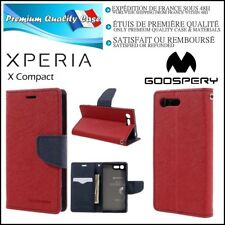 Etui Coque Housse MERCURY GOOSPERY Cuir PU Leather Case Sony Xperia X Compact