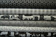 Moda 'Homegrown' Monochrome Farmhouse Kitchen 100% Cotton Fabric (by the FQ)