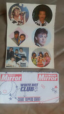Daily Mirror 1980s White Hot Club Chart Toppers Pop Stickers - Take your pick