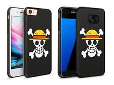 One Piece Anime Manga Skull Cross Bones Hard or Rubber Case Cover for iPhone